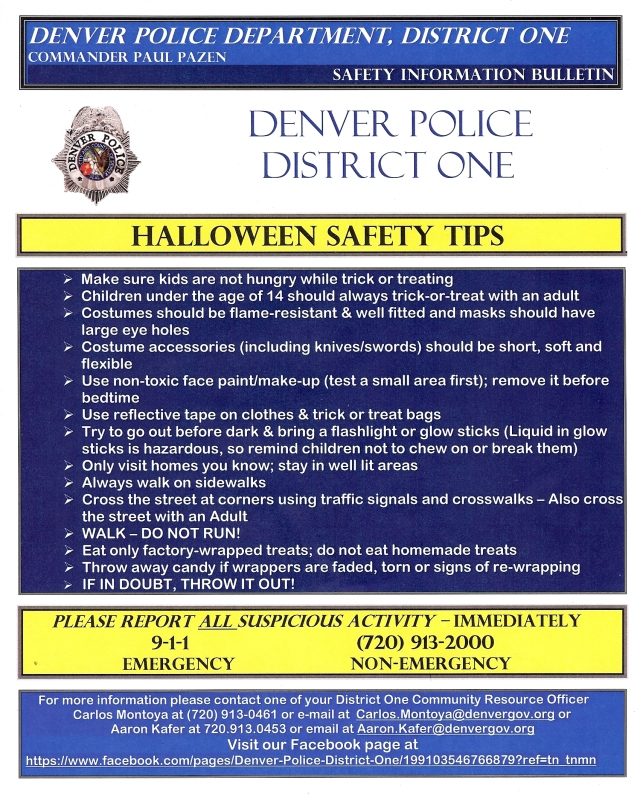 Dist 1 - Halloween Tips